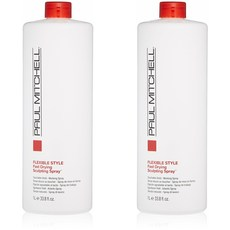 Paul Mitchell 폴미첼 스타일링 스프레이 1L x2팩 Fast Dry Sculpting Spray Unisex Hair Spray