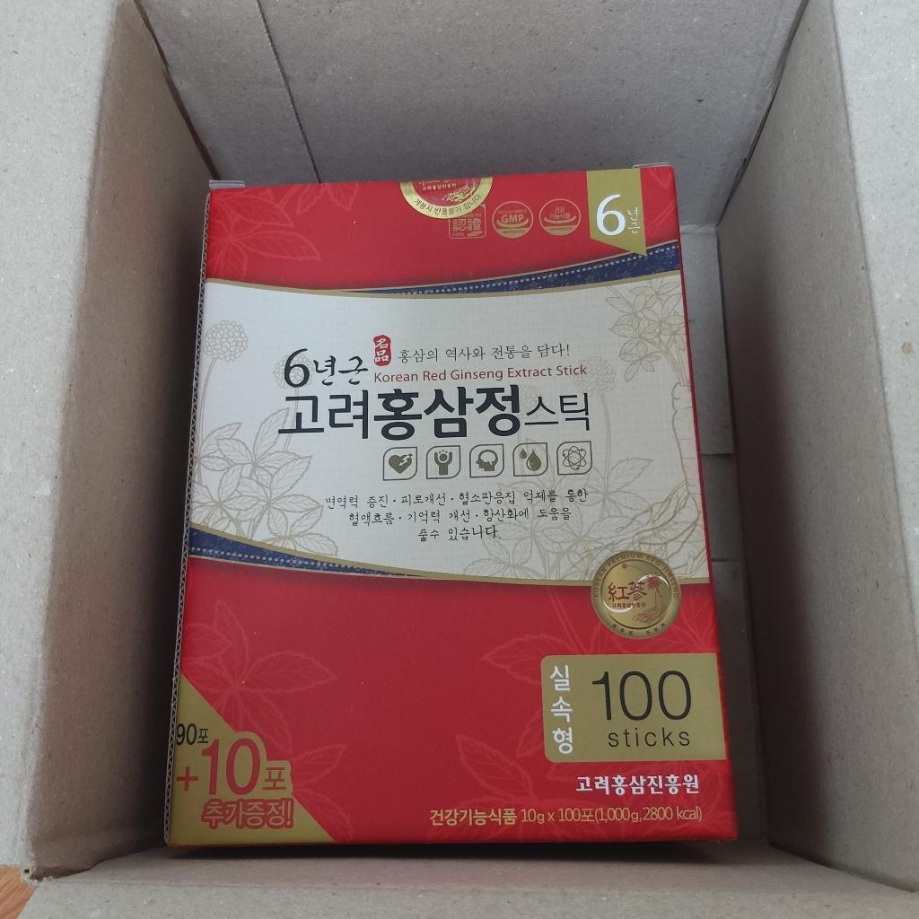 고려홍삼진흥원 6년근 고려홍삼정 스틱 타워형  리뷰 후기