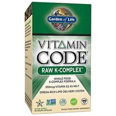 Garden of Life 비타민 코드 로우 K-컴플렉스 베지테리안 캡슐