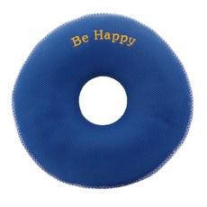 이솔홈 에어메쉬 기능성 원형 도넛방석, 블루