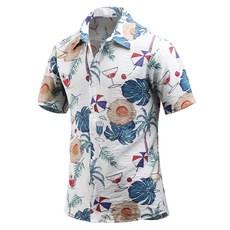 다꾸앙 남성용 여름 킬링 타임 하와이안 반팔 셔츠 C06D14_sp2093