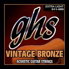 GHS 1150 빈티지 브론즈 엑스트라 라이트 어쿠스틱 기타 줄, VN-XL, 혼합색상