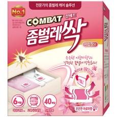 컴배트 좀벌레싹 서랍장용 아로마향 방충제 40p, 20g, 1개