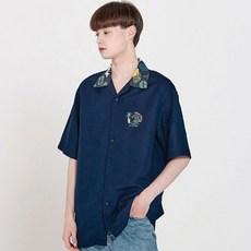 리베르텡 서퍼 로고 하와이안 반팔 셔츠