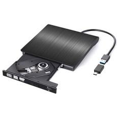 림스테일 USB3.0 외장형 ODD 노트북외장 CD롬 + C타입 젠더 세트, LM-19