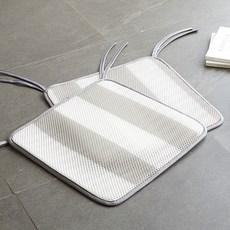 라뽐므 스트라이프 투웨이 쿨브리즈 3D 에어매쉬 쿨방석 2p, 라이트그레이