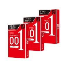 오카모토 콘돔 제로원 0.01 3개입 3개세트 일본 초박형 콘돔 일반형, 3개입*3개세트