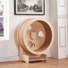 책장 공간박스 아기고양이 대형 캣휠 고양이 고양이놀이터 원목, 옵션1