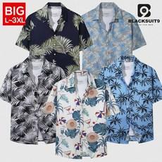 블랙수트나인 오버핏 빅사이즈 하와이안 반팔 셔츠 남방 10종 (DNSHHW001)