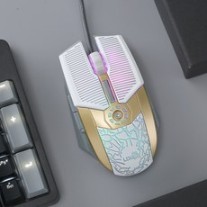 슈즈영 마우스패드 유선드마우스 사무실 CAD 그림을 그리다 전용 LOL 게임용 샌딩 그립감 테이블 탑 노트북 작업, 화이트, 정부측 표기함