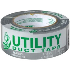 Duck Tape Brand 1118393 유틸리티 덕트 테이프 기본 강도 1 팩 1.88 인치 x 55 야드 실버 : 산업 및 과학