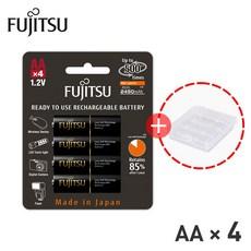 후지쯔 프리미엄 충전지 4알 충전 배터리 AAA/AA 충전용/충전식 건전지, AA 2550mAh 4개