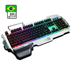 RedThunder K900 RGB 유선 게임용 키보드 25 키 안티 고스팅 기계식 PC용 인체 공학 러시아어 스페인어 프랑스어, 협동사, BR 레이아웃, 반기계