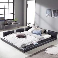 젠티스 저상형 사각스퀘어 퀸 침대 세트 매트포함, 01.프레임+참숯콤포트매트, 블랙