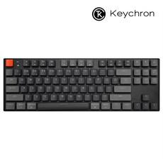 키크론 K1 V4 텐키리스 RGB 애플 맥 기계식키보드, 적축